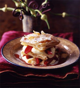 """This is the Grappa Chantilly & Rhubarb millefoglie that Lu and Derek have a...moment with on his birthday. (IF YOU CAN""""T STAND THE HEAT, coming in 2015 from Fated Desires Publishing)"""