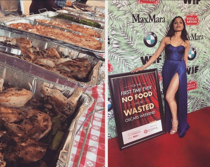 Freida Pinto helps hundreds of hungry people with Oscars leftovers