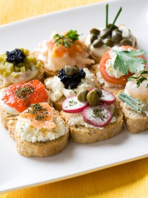 European Style Christmas Party Canapes