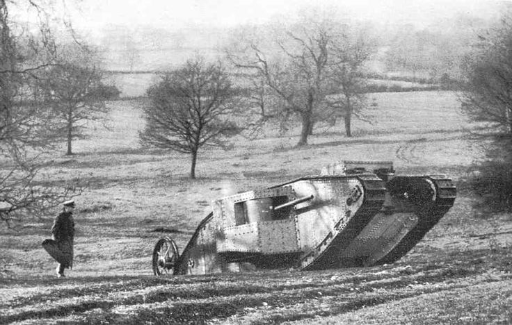British Tank introduced at the Battle of the Somme -  September 1916  Imperial War Museum, London