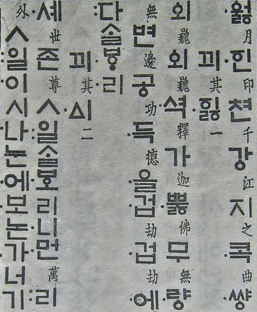 The First Printed Hangul Type (1447), Printing Museum, South Korea