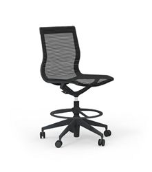 The Armless Curva Hi Task Mesh Drafting Chair Was Designed By Milan Architects For High