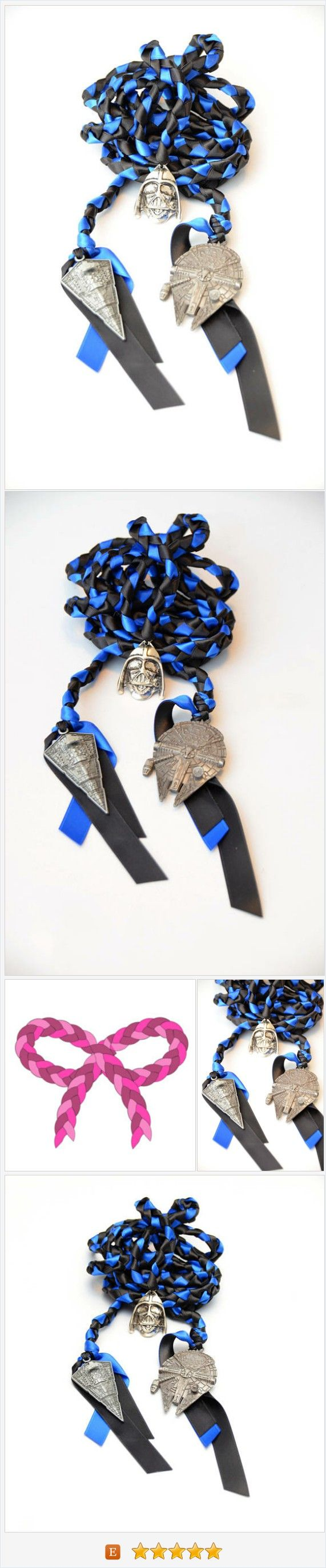 Star Wars Inspired 3 Charm Wedding Handfasting Cord ~ Sith Lord ~ TFA ~ Dark Side Of the Force ~ Darth Vader ~ Star Wars ~ Wedding https://www.etsy.com/DivinityBraid/listing/541385437/star-wars-inspired-3-charm-wedding?ref=shop_home_active_1