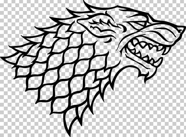 Sansa Stark House Stark Dire Wolf Winter Is Coming Gray Wolf Png Art Artwork Beak Bird Black And White Dire Wolf Grey Wolf House Stark