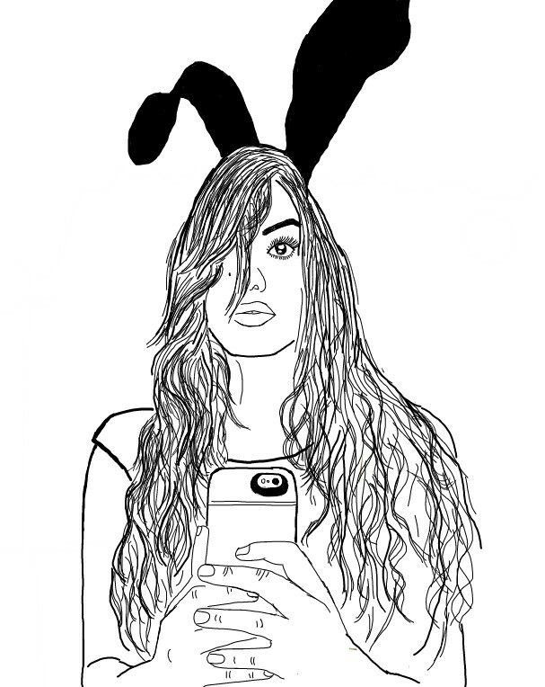 Zoella Line Drawing : Best black line drawings images on pinterest girl