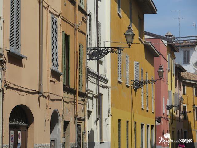 Colores pasteles en Parma.