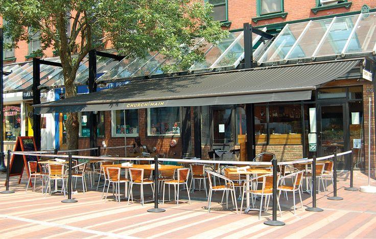 Church Main Restaurant Burlington Vt Retractable A Motorized Awning Will