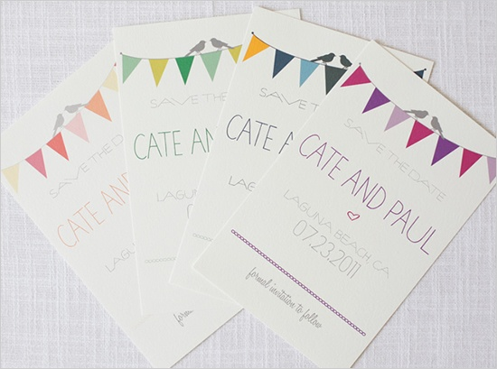 DIY free bunting invites. too cute!