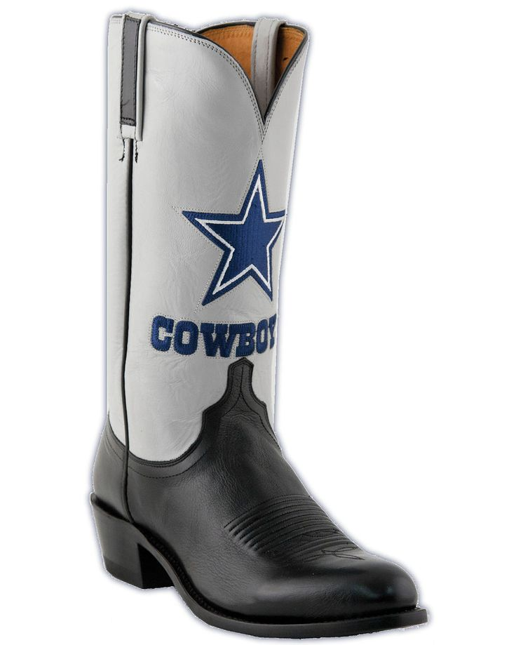 dallas cowboy tattoos for men | Lucchese Men's Dallas Cowboys Lone Star Calf Cowboy Boots