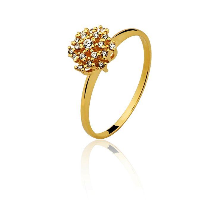 """Solitário """"chuveirinho"""" diamantes Cartier"""