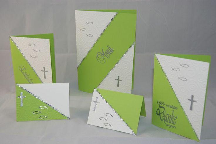 Kommunion Taufe Konfirmation Einladung Danksagung von bastelstuebel2011 auf DaWanda.com