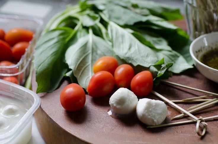 Recipe: Tomato & Mozzarella Caprese Skewers   Kitchn