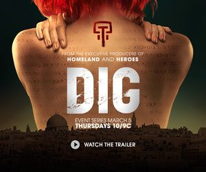 DIG on USA network. Jason Isaac stars as FBI agent Peter Connelly stationed in Jerusalem. The story focuses on 3 storylines that no doubt will converge.
