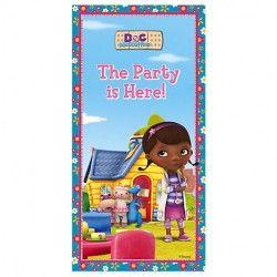 """Cenário Porta para festas de aniversário do tema Dra. Brinquedos / Plastic Door Banner """" Doc McStuffins """""""