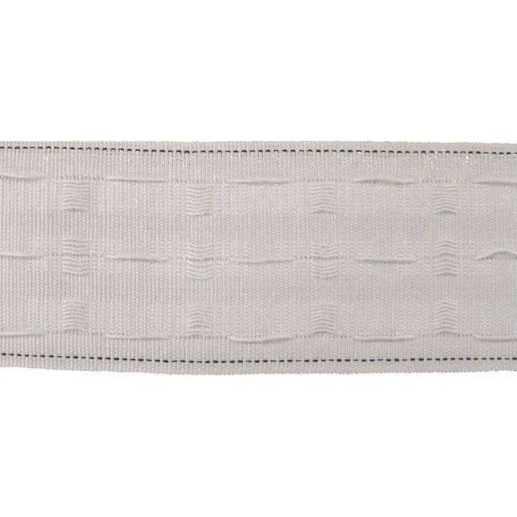 "3"" White Pencil Pleat Curtain Header Tape"