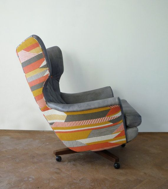 Antique Sofa Reupholstery Cost: Vintage G Plan Swivel Chair 6250 Wing Chair Reupholstered