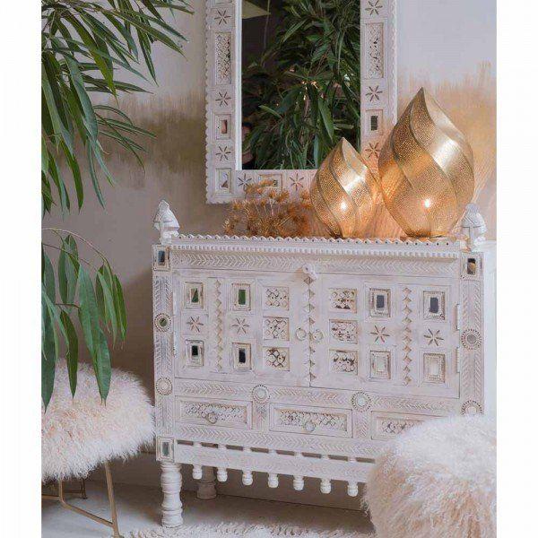 Sideboard Gaya Mangoholz Weiss Orientalische Mobel Orientalisch Mobel Laden