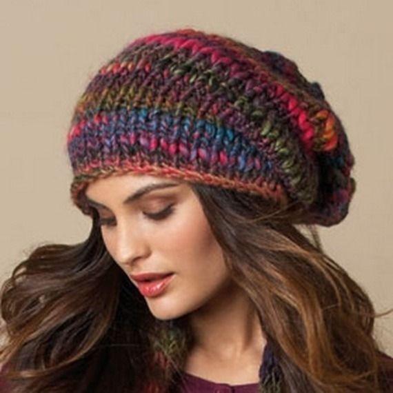 Bonnet swag en laine multiclore noir gris marron violet fushia rose indien pour femme