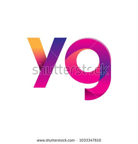 Initial Letter YG Logo Lowercase, magenta and orange, Modern and Simple Logo Design.