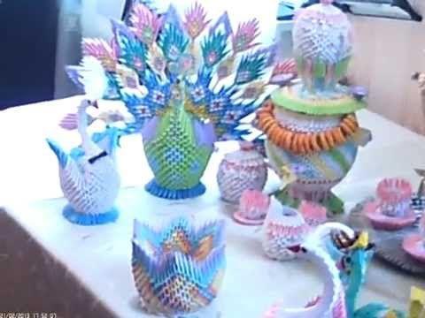 Оригами из бумаги, гусь, павлин, самовар, чайник... - YouTube