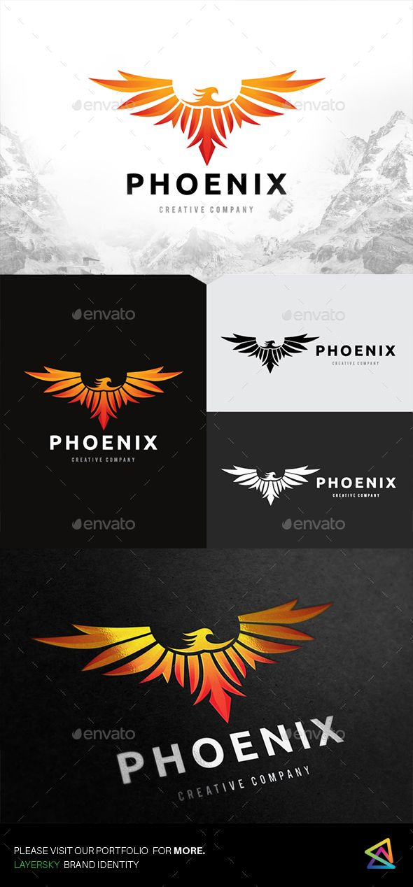 Phoenix Logo - Animals #Logo #Templates Download here: https://graphicriver.net/item/phoenix-logo/19511530?ref=alena994