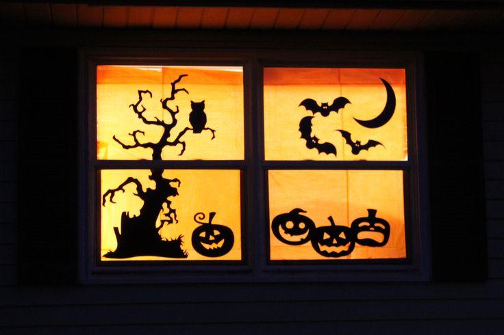 108 best Halloween  Fall images on Pinterest Halloween - halloween window decorations