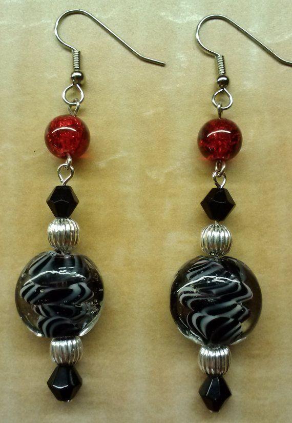 Beaded Earrings Handmade Earrings Beadwork by KimsSimpleTreasures, $10.00