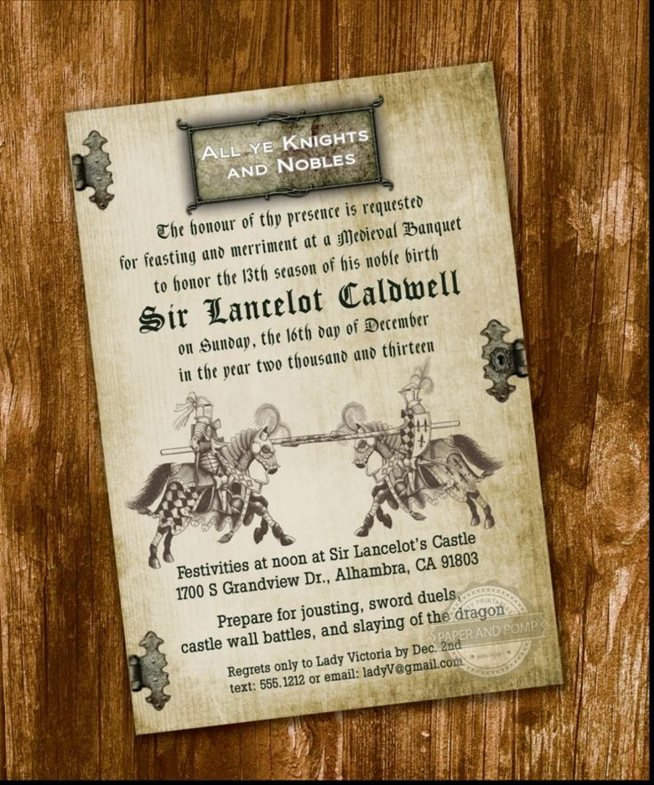 28 Best Medieval Wedding Invitations Images On Pinterest: 11 Best Themed: Mike The Knight Images On Pinterest