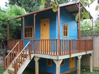 Children's Playhouse With Veranda & Trap Door To Ground Level - Project code: PC051042 by The Playhouse Company, via Flickr