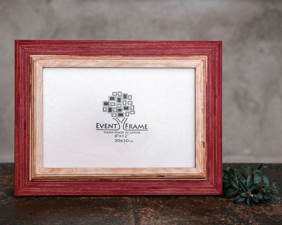 8x12 Picture frame 20x30 cm Unique Wooden Rustic by EventFrame