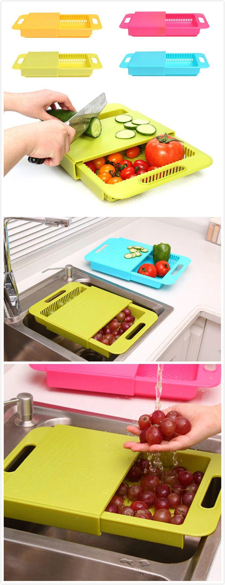 Multifunction Antibacterial PP Chopping Board#gadgets #Home garden# I need one…