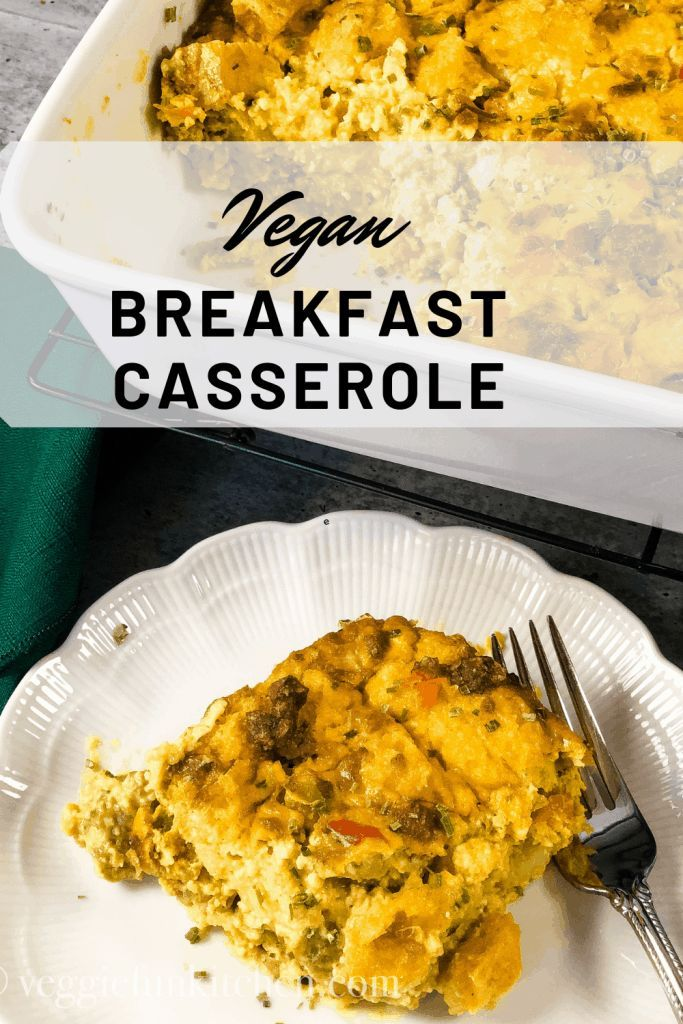 Vegan Classic Breakfast Casserole No Eggs Veggie Fun Kitchen Recipe Vegan Breakfast Casserole Vegan Recipes Healthy Breakfast Casserole