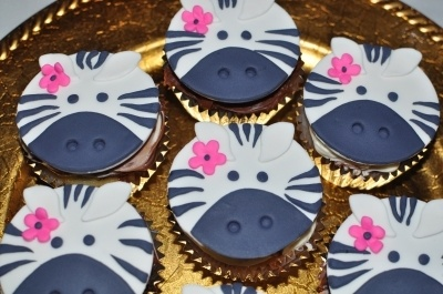 Zebra Cupcake Toppers By moreCakePlz on CakeCentral.com
