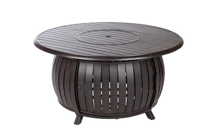 Fire Sense 61832 40000 BTU 47 Inch Round Tabletop Liquid Propane Fire Pit Bronze Outdoor Firepit