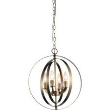 Delroy 4-Light Candle-Style Chandelier