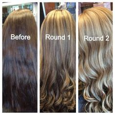 before dyed dark brown after ash blonde balayage ombre