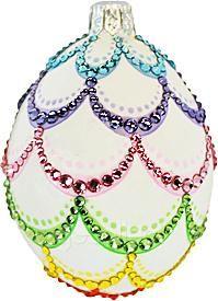 Medium Egg (Fanfare, Violet) Patricia Breen Designs for Easter