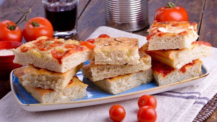 Pan de pizza (Focaccia) - Matteo de Filippo - Receta - Canal Cocina
