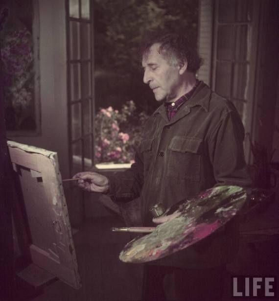 Chagall, Francia / France, 1949. Foto / Photo by Gjon Mili. Serie para la revista LIFE / LIFE Magazine Series
