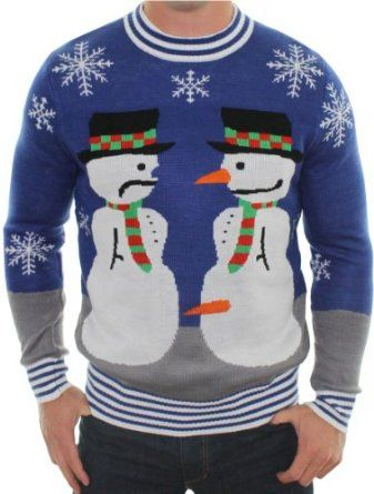 Amazon.com: Ugly Christmas Sweater - Frosty the Nose Thief Sweater by Tipsy Elves: Clothing