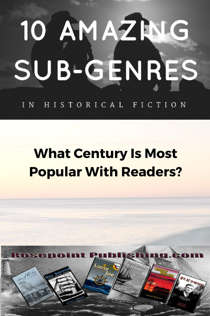 There are ten main categories of historical fiction, but one century is most popular.