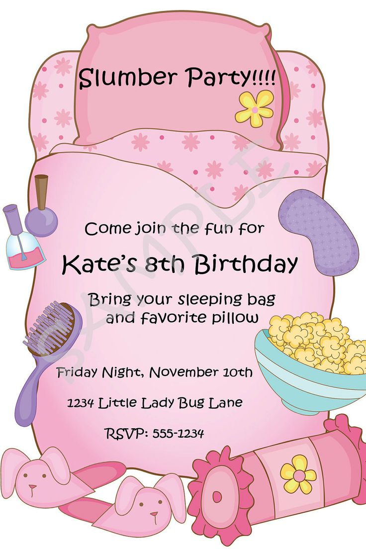 134 best Pajama party Printable images on Pinterest | Sweet 16 ...