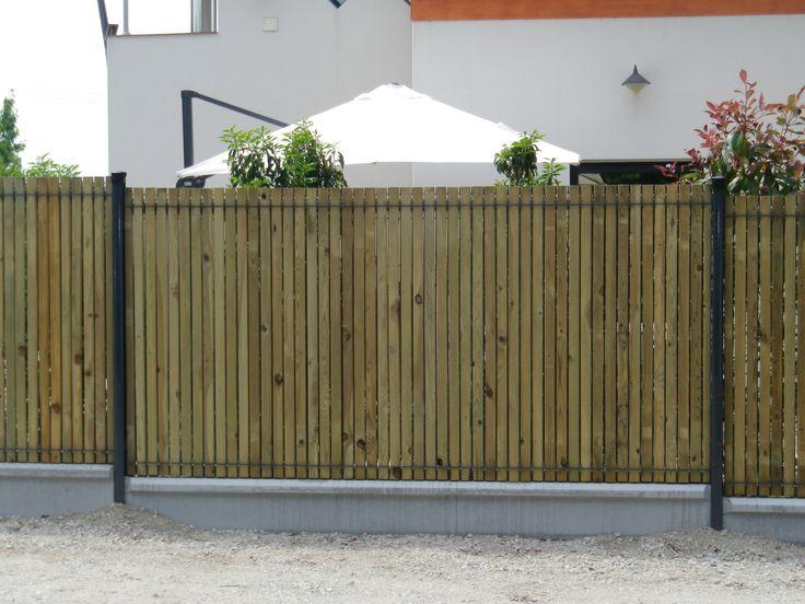 clôture rigide et lames occultantes