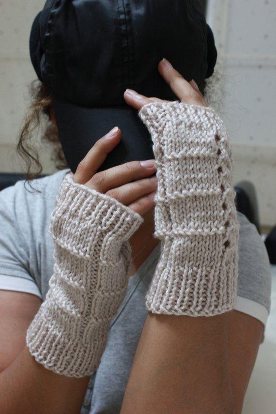 Mejores 207 imágenes de guantes sin dedos a dos agujas en Pinterest ...