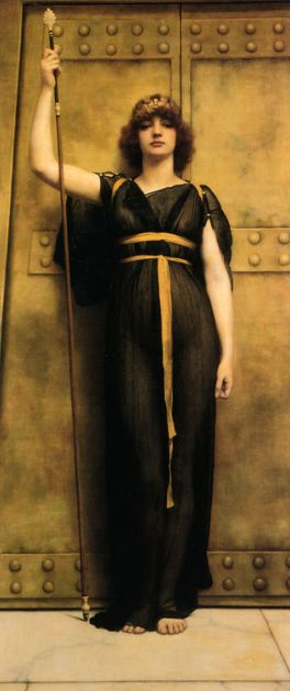 John William Godward - la pretresse