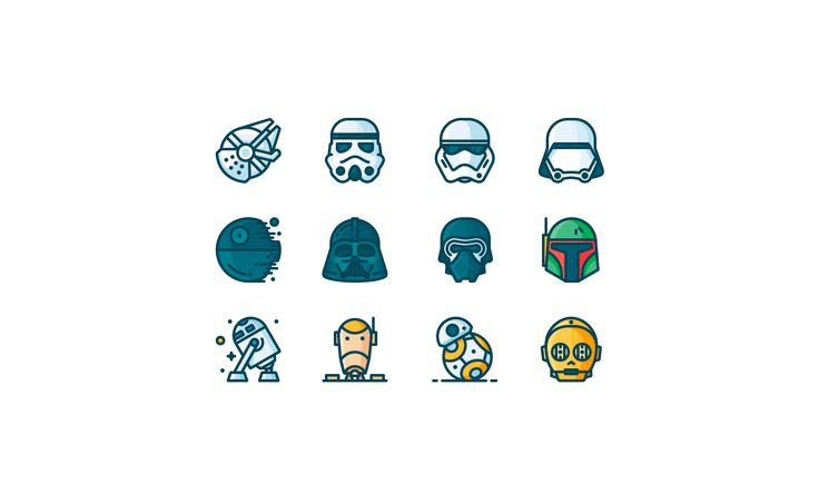Outline Star Wars Icons on Behance