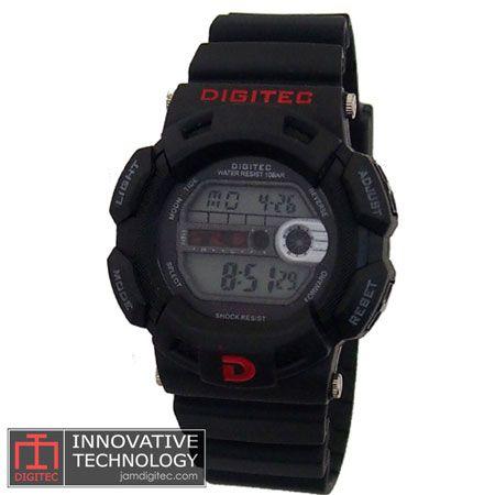 jam tangan digitec DG-2087T hitam merah