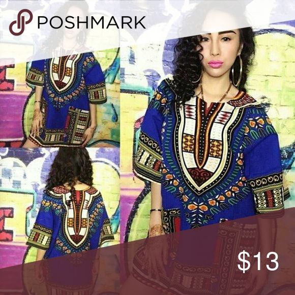 African dashiki shirt  for men and women we have African dashiki shirt for men and women we have small medium large and extra large Tops Tees - Short Sleeve