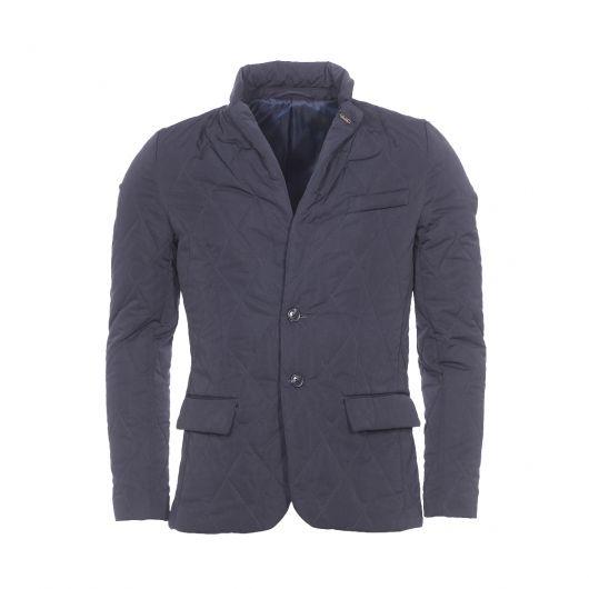 Veste matelassée coupe blazer Scotch&Soda bleu marine | Rue Des Hommes