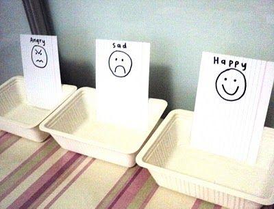 An emotions sorting game to help kids learn their feelings